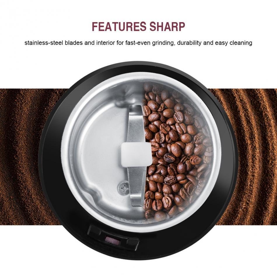 400W Electric Coffee Grinder Kitchen Coffee Beans Spices Nuts Grinding Machine With Spice Nuts Seeds French Coffee Maker Machine