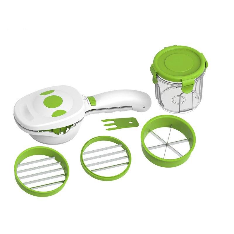 5 in 1 Magic Nicer Quick Stainless Steel  Dicer Chopper Multi-Functional Onion  Cutter Slicer Kitchen Tools
