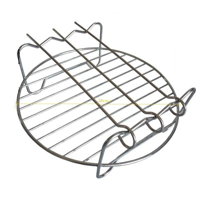 5pcs/Set Air Fryer Accessories Practical Baking Basket Pizza Plate Pot Pad Grill Pot Rack Durable Kitchen Tools Set