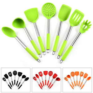 7Pcs Cookware Kitchenware Set Silica Gel Kitchen Tools Accessories Luxury Cooking Utensils Special Tool Spoon