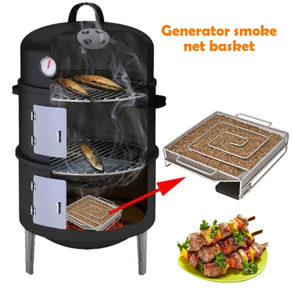 Cold Smoke Generator Grill Cooking Tool Barbecue Accessories Traeger For Masterbuilt Food Smoking Sawdust  Wood Chip Smoking Box