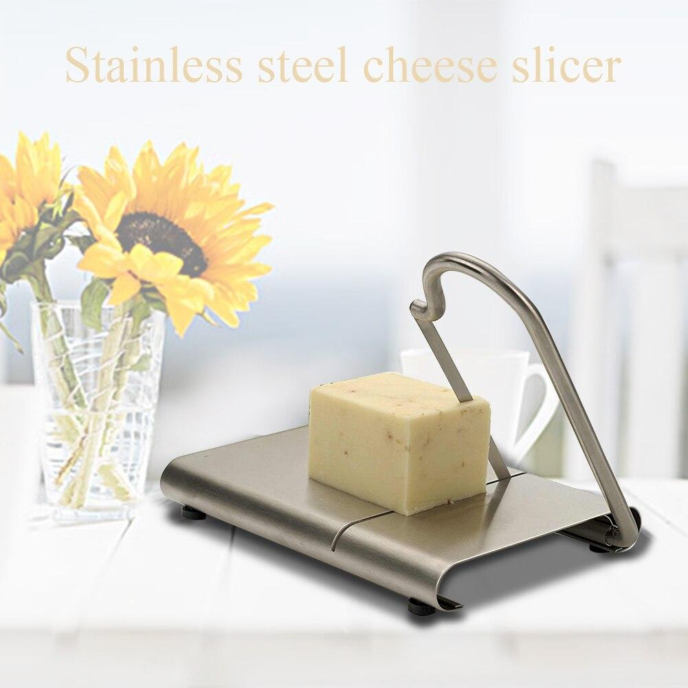 Hard Anti-slip DIY Cheese Slicer Practical Easy Clean Butter Vegetable Baking Stainless Steel Fruits Wire Cutter Kitchen Tools