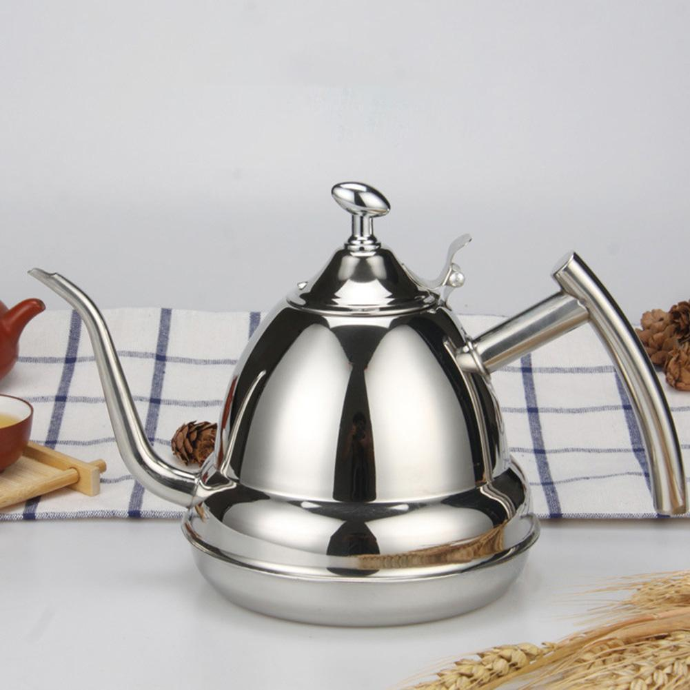 High quality Stainless Steel 1.2L Gooseneck Puer infuser tea coffee Kettle Pot Home Kitchen Storage Water Induction Cooker