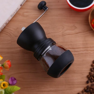 Manual Ceramic Burr Coffee Bean Grinder with Fortified Glass Storage Jar Durable Cafe Bean Mill Coffee Maker Kitchen Tools SP521