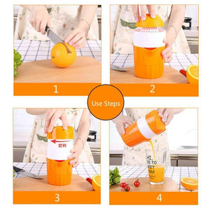 Manual Juicer Orange Lemon Fruit Squeezer Juicer Machine Portable 300ML Juicer Cup Outdoor Fruit Juicer Kitchen Fruit Tool