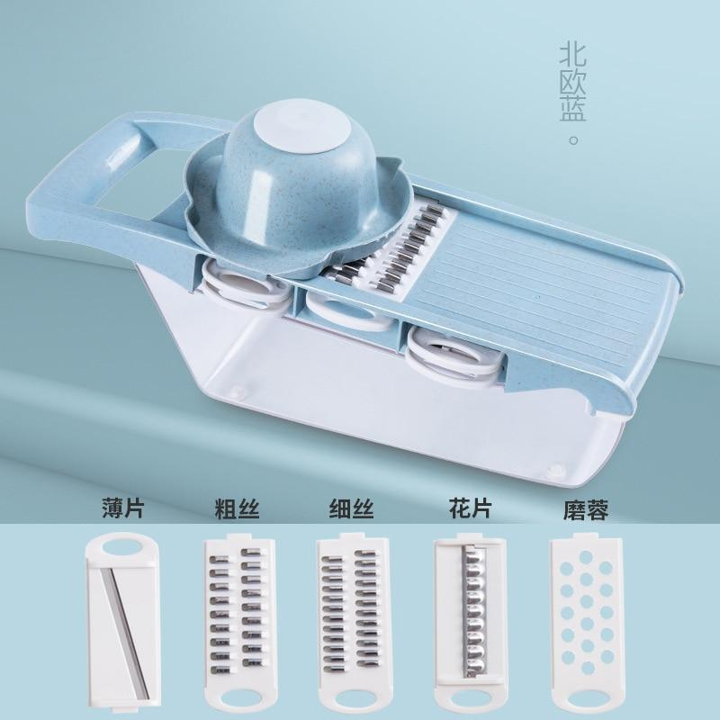 Manual  Cutter Shredder Cabbage Mandoline Potato Spiral Grater Multi Salad Spinner Food Chopper Kitchen Accessories