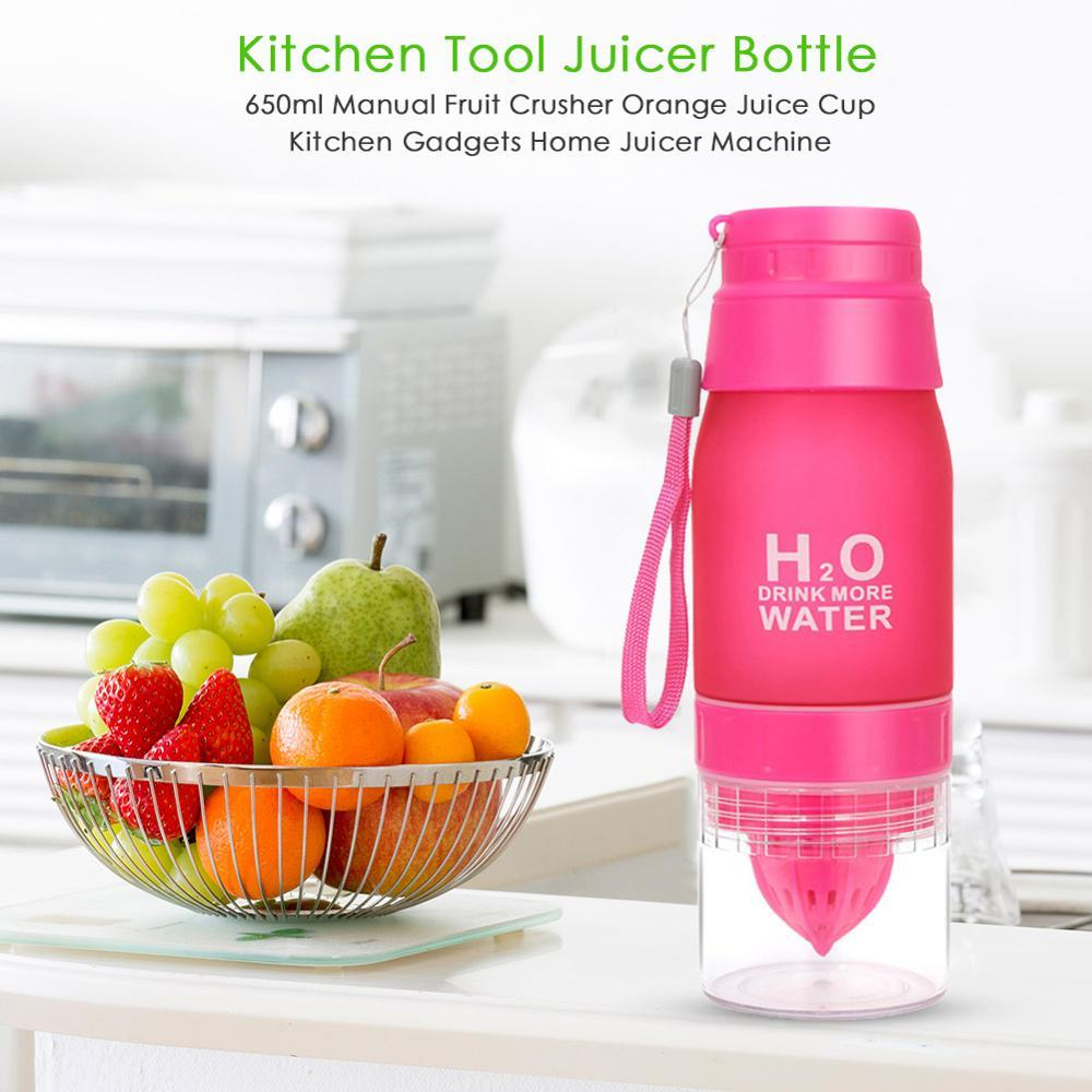 Multifunction Portable Lemon Orange Juicer Cup Travel Manual Juicer Bottle Fruit Squeezer Kitchen Accessories Juicer Bottle