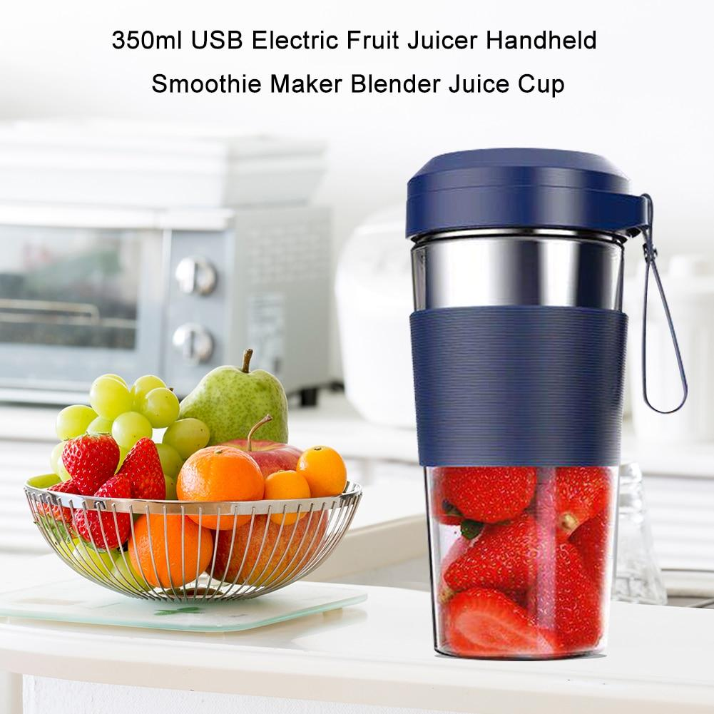 Portable Electric Juicer Small Fruit Cup Food-Blender mini Food Processor 350ml Blender Electric Kitchen Mixer Juicer Fruit Cup