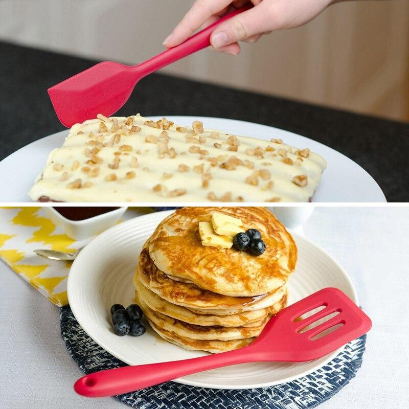 Silicone cooking tools set Spatula Heat-resistant Soup Spoon Non-stick Special Cooking Shovel Kitchen Tools