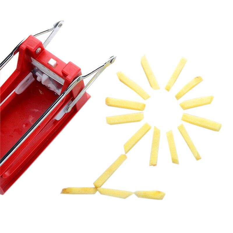 Stainless Steel Hand Push Type Potato Chipper Chip Cutting French Frie Slicer Maker Device Blade Chopper Kitchen Accessories