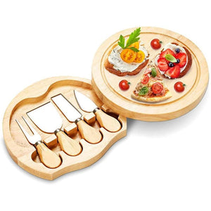 Stainless Wooden Cheese Board Wooden Cutting board Bamboo Handle Cheese Knives Board Fork Shovel Cooking Tool Kitchen Accessorie