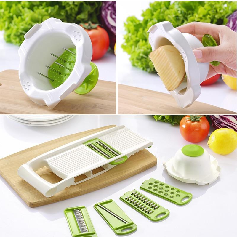 Mandoline Peeler Grater s Cutter tools with 5 Blade Carrot Grater Onion  Slicer Kitchen Accessories