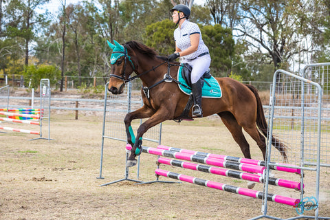 CJade Online Turquoise showjumping matchy tack