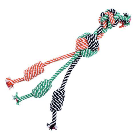 Three-Tailed Rope Tug Toy - CJade Online Pet & Equine
