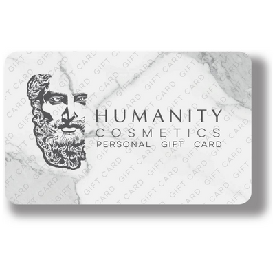 humanity cosmetics, gift card, present, gift certificate