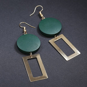 Vintage Asymmetrical  Gold Earrings