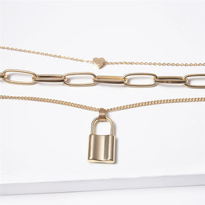 Lock Style Necklace