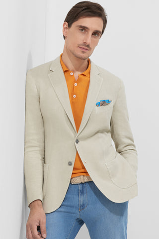 Marcello jacket in cotton, ramie, and linen