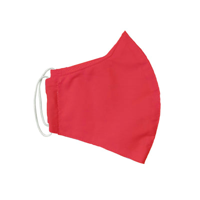 Red Adult Cotton Face Mask w/ Filter Pocket & Deodorizing Protection (Pack of 3)