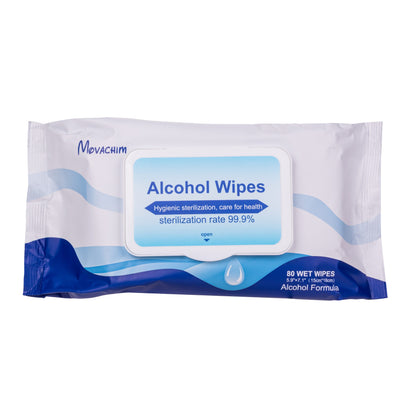 Sanitizing Alcohol Wipes (Pack of 80)