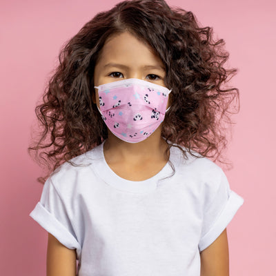Kids Pink Disposable 3-Ply Mask (Pack of 50)
