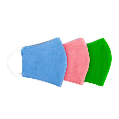Kids Age 4-7 Cotton Face Mask w/ Deodorizing Protection (Pack of 3)
