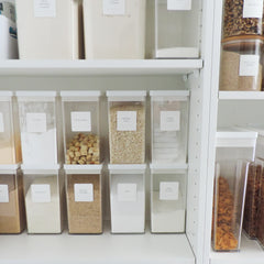 Essential Pantry Labels on cannisters - The Printable Place