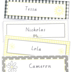 Daisy Chains Labels - The Printable Place