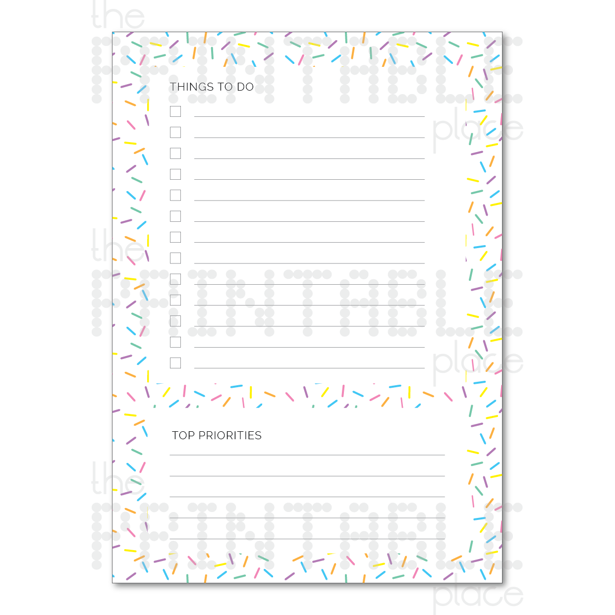 Sprinkle Themed Planner Download To Do List - The Printable Place