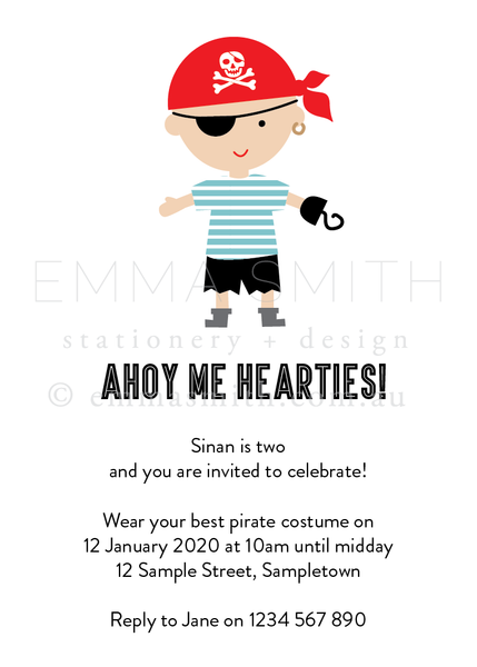 Pirate printable party package and invitation editable template | The Printable Place