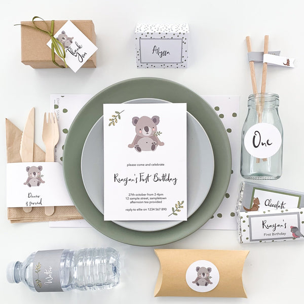 Cute Australian Animals All Inclusive Party Decor Printable Download | The Printable Place