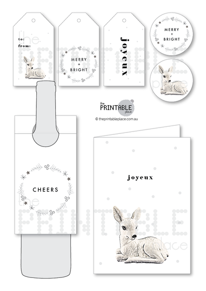 Beautiful Black and White Christmas Designs - The Printable Place