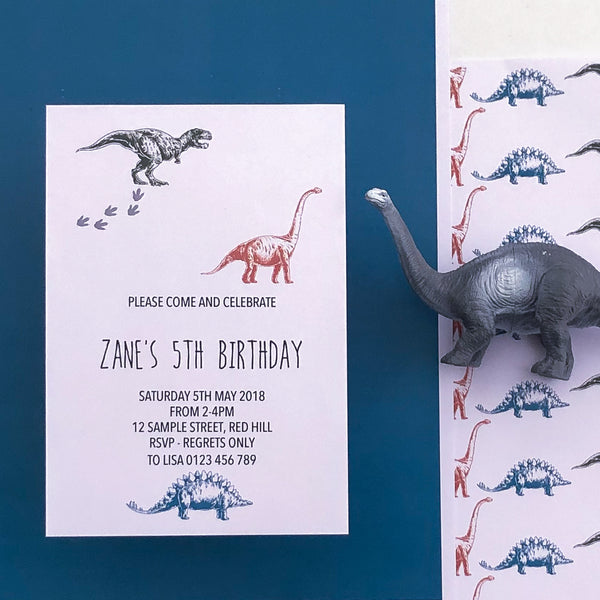 Dinosaur Invitation Printable Template - The Printable Place