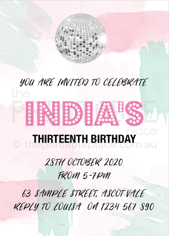 Disco Invitation Template Download | The Printable Place