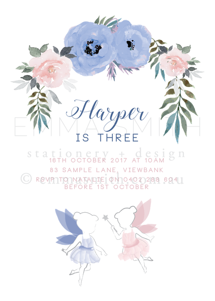 Enchanted Garden Fairy Invitation Printable Template Download | The Printable Place