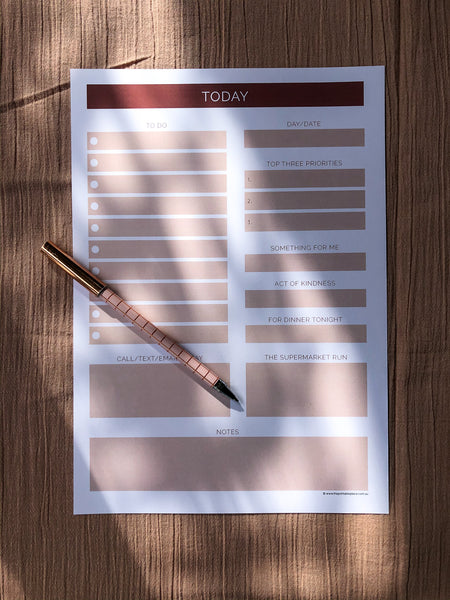 Printable Download Daily To Do list template - The Printable Place