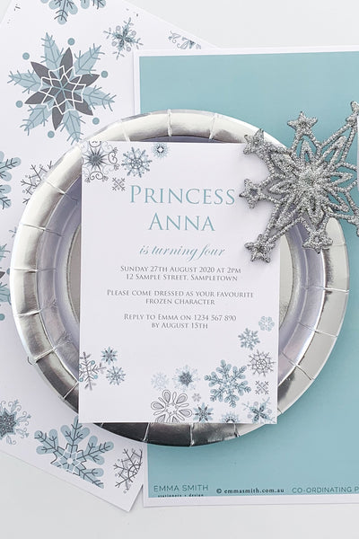 Frozen Snowflake Party Decor Printable Download Template | The Printable Place