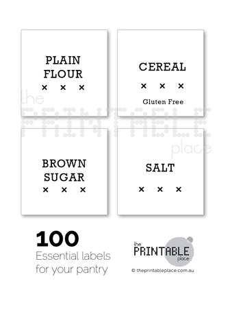 Hamptons Style Pantry Label Download - The Printable Place