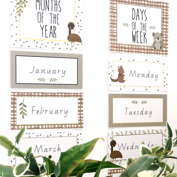 Australian Cuties Classroom Decor Bundle Days and Months