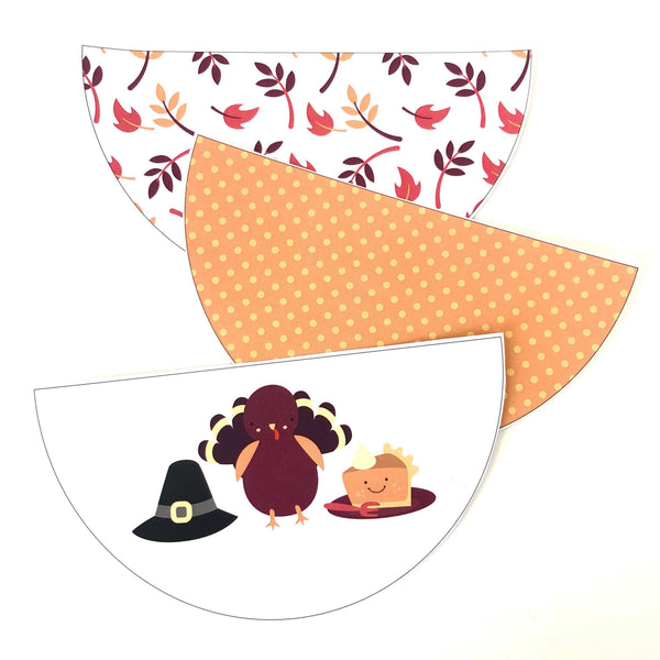 Cute Thanksgiving Printable Decor Download Scallop Bunting