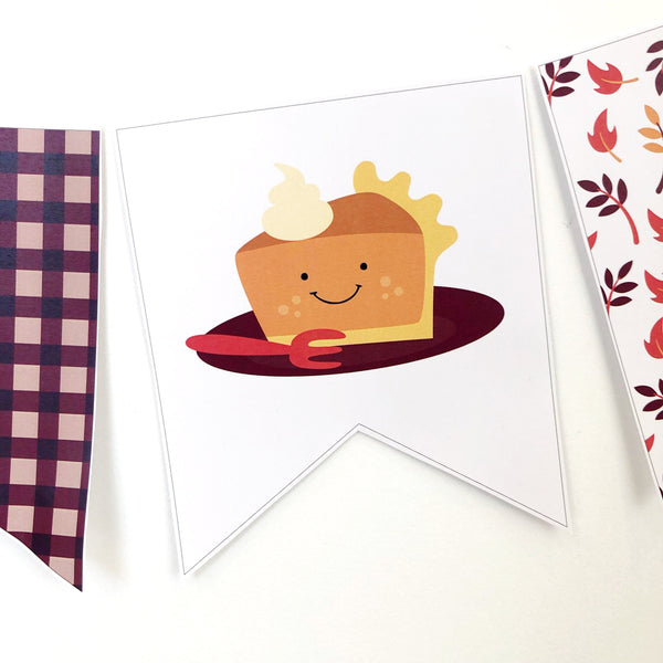 Cute Thanksgiving Printable Decor Download Bunting