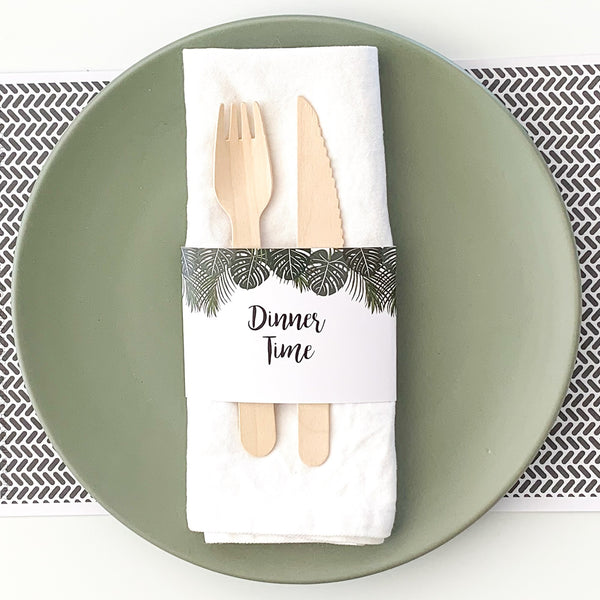 Safari Party Digital Download Printable Party Napkin Wrap | The Printable Place