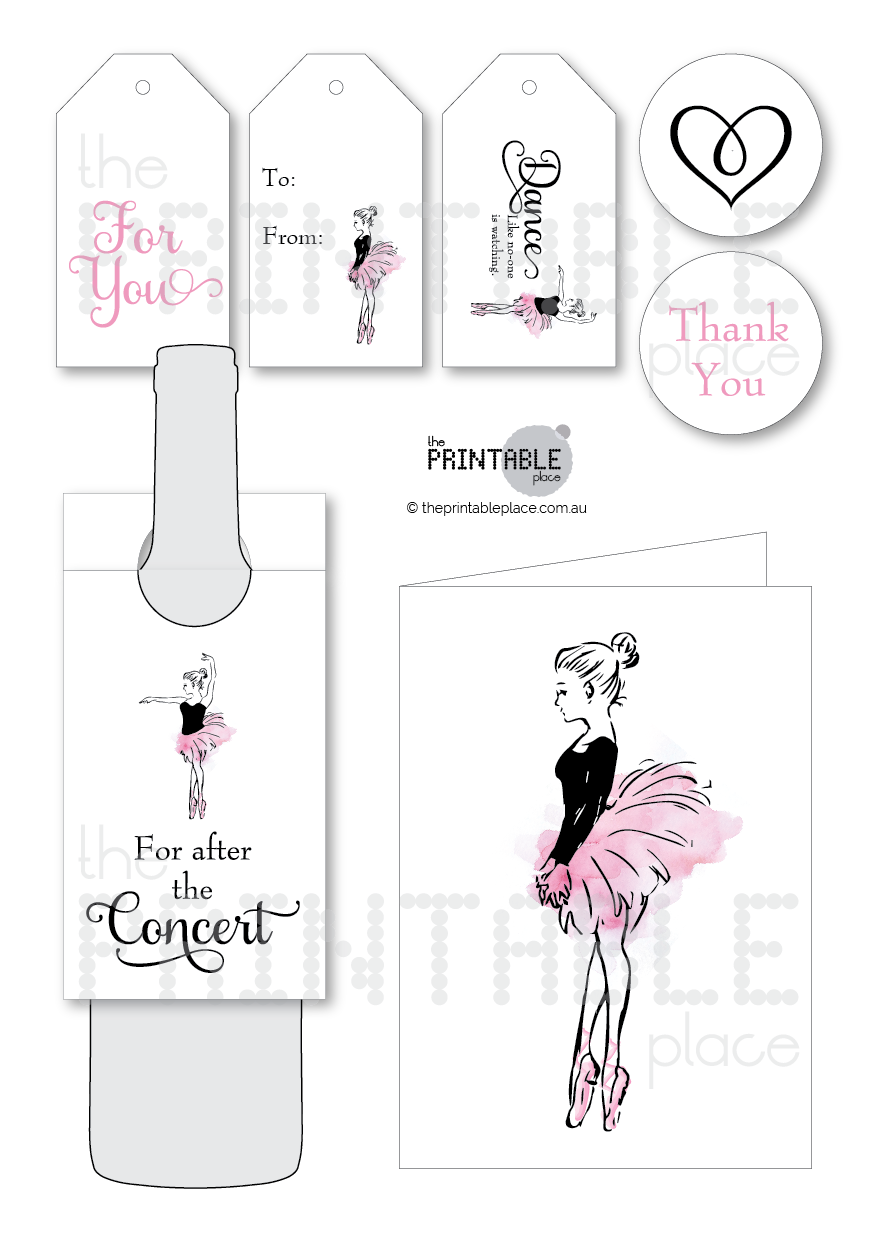 Dance Teacher Gift Set Printable | The Printable Place