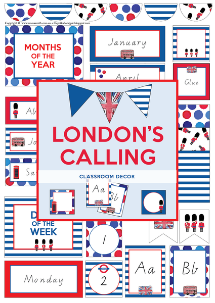 London Themed Classroom Download Template The Printable Place