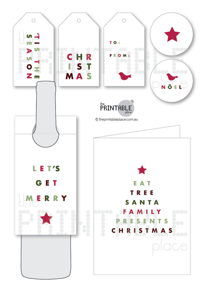 Minimal Christmas Printable Download - The Printable Place