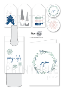 Nordic Christmas Printable Download Gift Card - The Printable Place