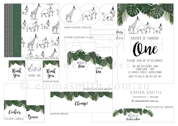 Safari Party Digital Download Printable Party | The Printable Place