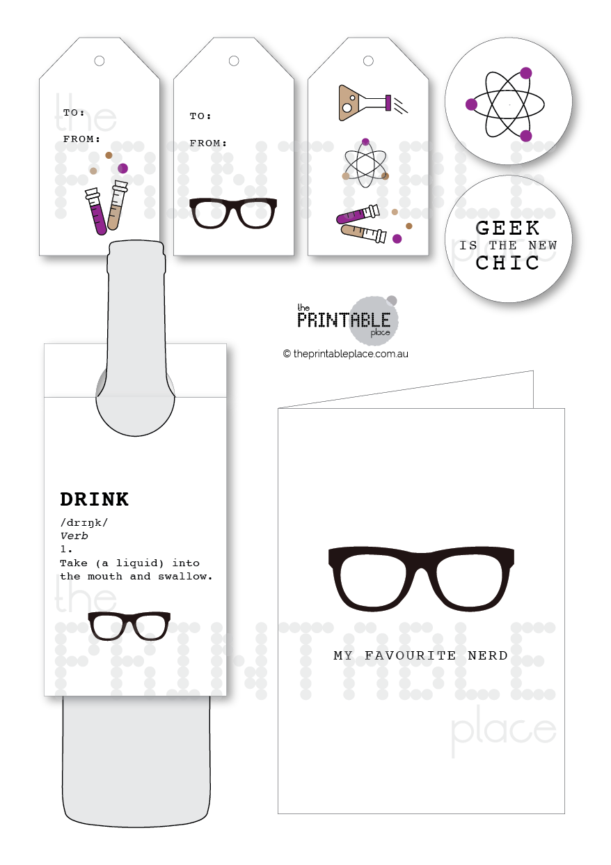 Talk Nerdy To Me Printable Gift Set - The Printable Place