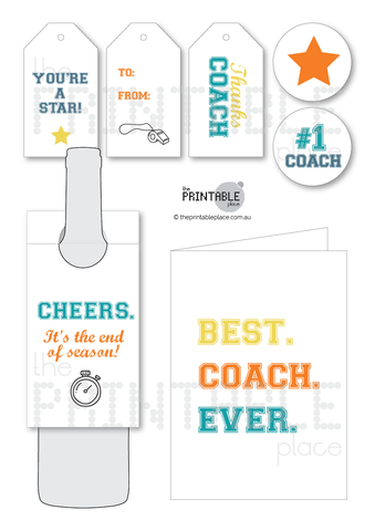 Thanks Coach Gift Set Download - The Printable Place
