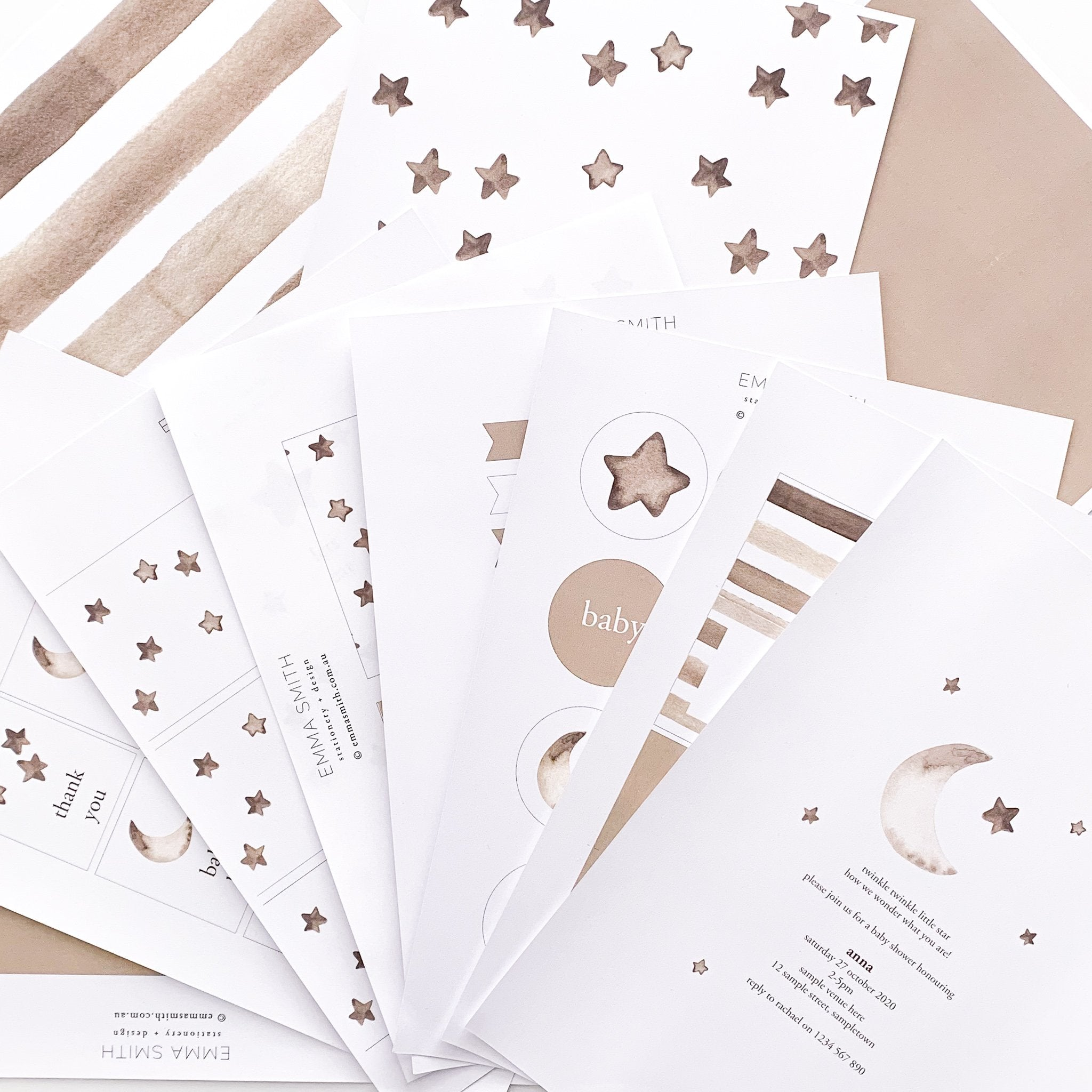 Twinkle Twinkle Little Star Printable Party Decoration Template package | The Printable Place